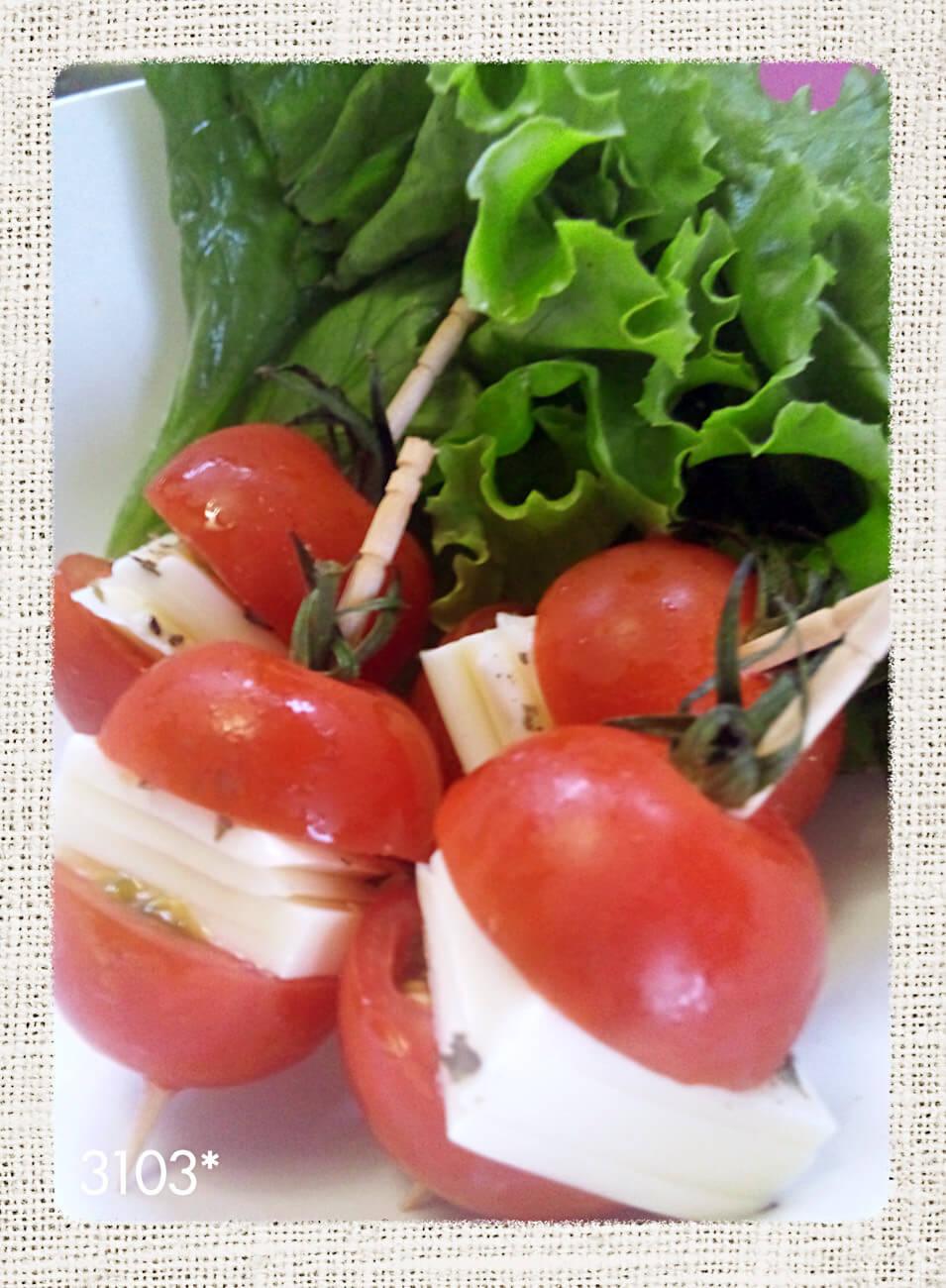 ミニトマトのプチカプレーゼ